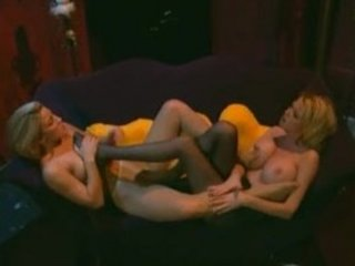 two horny albino woman inside nylons with a legs
