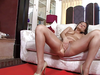 lady inside shiny nylons